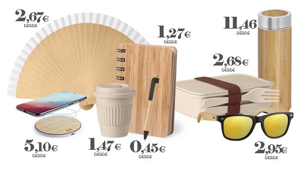 Productos promocionales ecológicos de bambú
